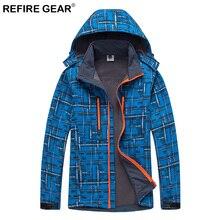 цены на Refire Gear Winter Outdoor Men Soft Shell Fleece Jackets Sports Windbreakers Trekking Jackets Hiking Ski Camping Jackets  в интернет-магазинах