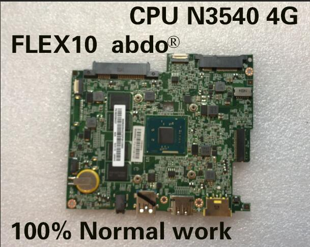 Abdo  BM5338 motherboard for FLEX10 FLEX 10 notebook motherboard 5B20G94327 CPU N3540 4G RAM 100% test work
