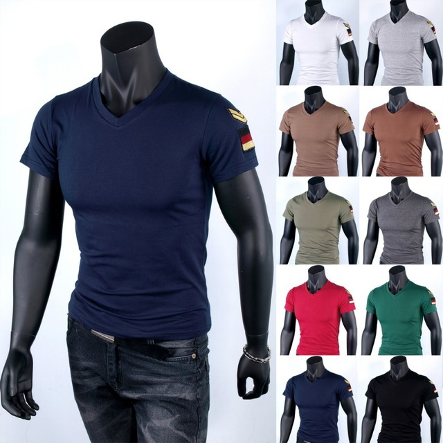 28def4a9a6 Free Shipping V Neck Cotton Plain Fitness Diamond Camisa Marca Famosa Short  Sleeve Slim Fit Pullover MensT Shirts 020 140609002-in T-Shirts from Men's  ...