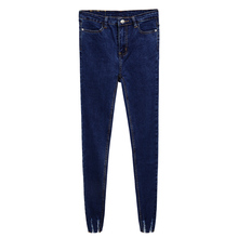 New Slim Stretch High Waist Skinny Jeans Female Scratch Worn Feet Vintage MT