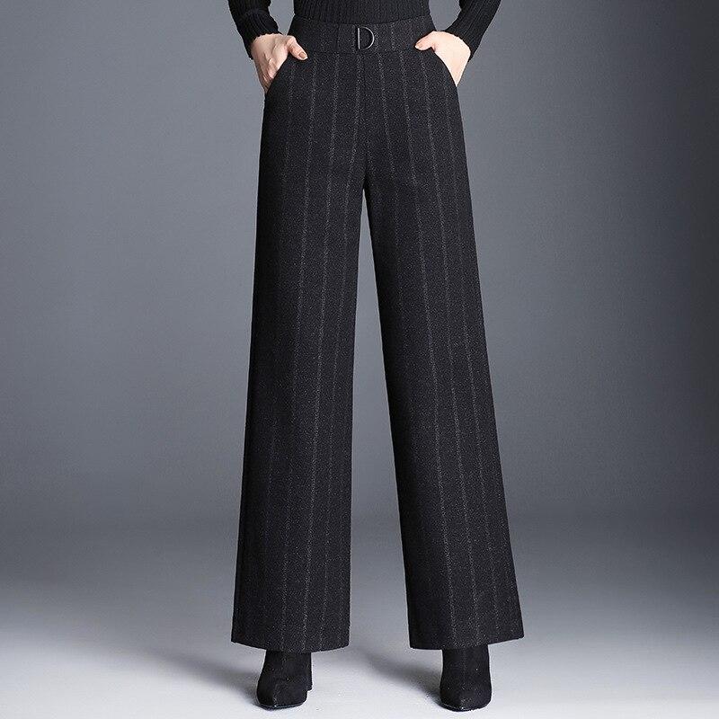 2019 New fashion striped wide leg pants loose casual pants