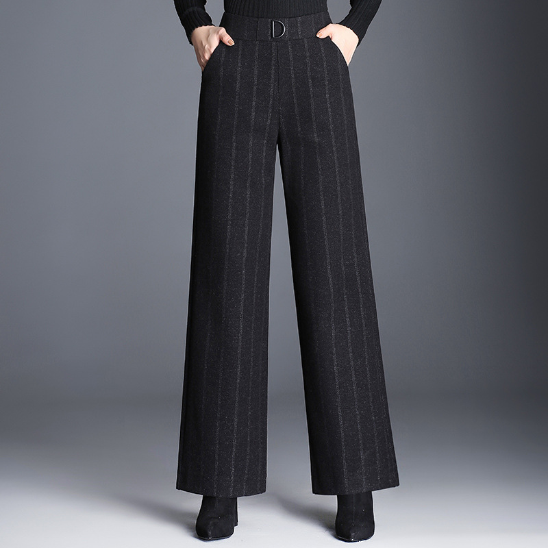 2019 New fashion striped wide leg pants loose casual pants
