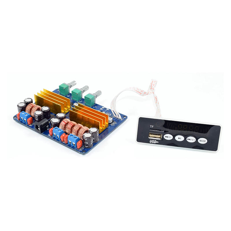 KYYSLB 4A Class D Digital Audio Amplifier Board 2*50W+100W <font><b>TPA3116</b></font> <font><b>2.1</b></font> <font><b>Bluetooth</b></font> Amplifier Board TF Card USB FM Subwoofer Board image