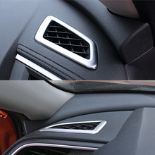 Chrome Dashboard Air Outlet Ring Cover Trim For Civic 2016-2018
