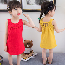 цена на New Brand Baby girl dress 2T-6T  girls clothes sleeveless dress children clothes kid outfit cotton princess dress summer 2019