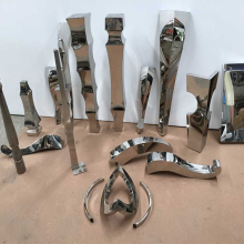 Стол из нержавеющей стали. Ножка для стола. Металлические ножки для мебели. Полу-готовых деталей