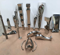 Stainless steel table. Table feet.. Metal furniture legs legs. Semi finished parts