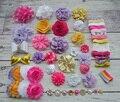 Baby Shower Headband Station Kit,DIY Headband Making Kit,First Birthday Party Headband Kit,Hair Bow Kit ,yellow,white,hot S51