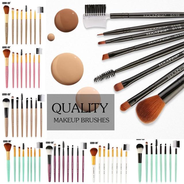 2018 8 piezas maquillaje profesional de los cepillos colorete de sombra de ojos de los cepillos conjunto Kit de herramientas de Pincel, Maquiagem envío de la gota