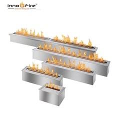 Inno living fire 90 cm roestvrij staal handmatige haard brander bioethanol fire