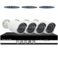 4CH NVR HD 1 MP 720P PoE Outdoor Wireless IP Network CCTV Security Camera System