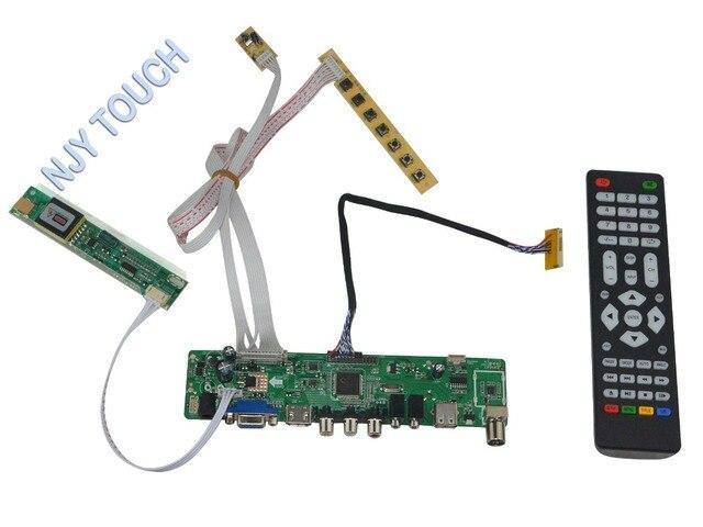LA. MV56U. Um Novo Universal HDMI USB AV VGA ATV PC Placa Controladora Do LCD de 15.6 polegadas 1366x768 LTN156AT01 CCFL Monitor Kit LVDS