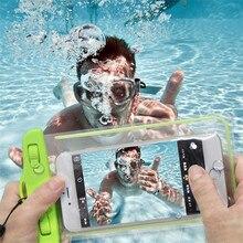 Плавание Телефон Case Световой Glow Водонепроницаемый Подводный Сумка Пакет сухой Case Чехол Для Мобильного Телефона Под 5.7 Дюймов Новый прибытие