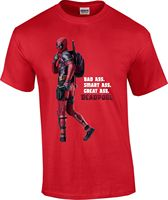 Dead Pool T shirt Retro Bad Ass Crime Fighter Funny Movie Film Attitude Sexy red