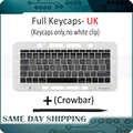 Ноутбук A1706 A1707 A1708 клавиши Keycaps UK Английский для Macbook Pro Retina 13