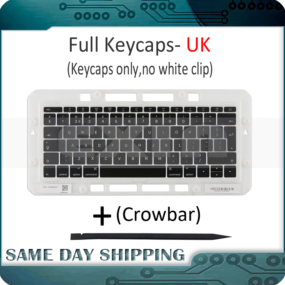 Laptop A1706 A1707 A1708 Keys Keycaps UK English for Macbook Pro Retina 13 15 UK Keyboard Keys Key Cap Late 2016 Mid 2017 image