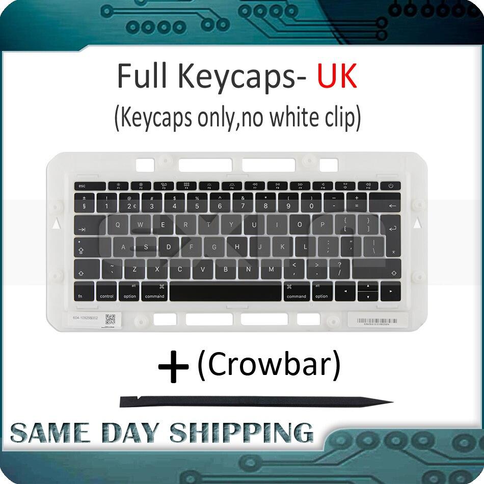 Portátil a1706 a1707 a1708 chaves keycaps reino unido inglês para macbook pro retina 13