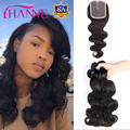 Peruvian Body Wave With Closure 4 Bundles With Closure Hanne Hair Product With Closure Virgin Puruvian Hair Bundles With Closure