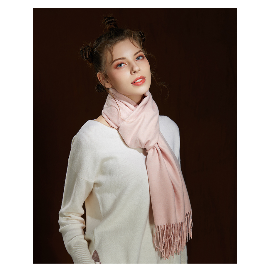 Winter Large Tassel Scarf 180cm65cm 23 Colors Wool Knitted Scarves 2019 Autumn 100% Cashmere Long Solid Scarf Women Warm Shawl (19)