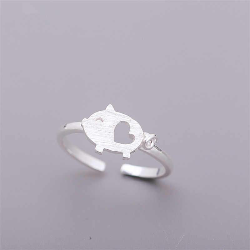 1 шт./партия богемные Серебрянные украшения в античном стиле женские кольца с рыбками Открытые размеры кольца с животными