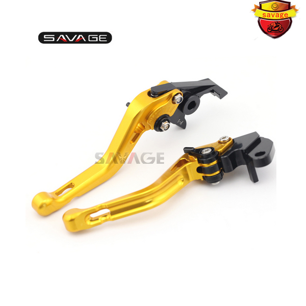 ФОТО For YAMAHA FZS600 FAZER XJR 400/R XJR400 XJR400R Motorcycle Accessories CNC Aluminum Adjustable Short Brake Clutch Levers Gold