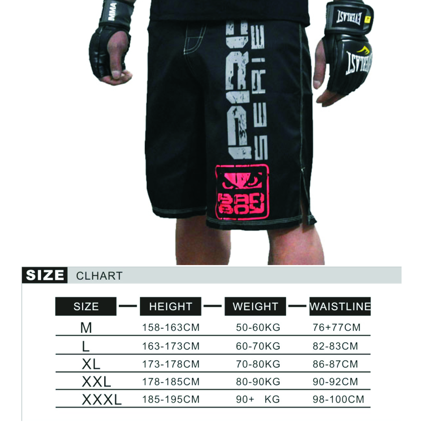 MMA 2017 breathable sports training competition pattern boxer shorts MMA muay