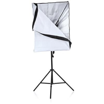 3 в 1 фотостудия комплект держатель ламп 4 осветительная стойка 2 м, 50x70 см софтбокс с бесплатной доставкой - 4
