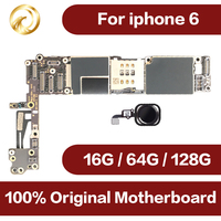 100% full unlocked for iphone 6 4.7inch Motherboard with Touch ID,Origina for iphone6 Mainboard with IOS System,Free Shipping