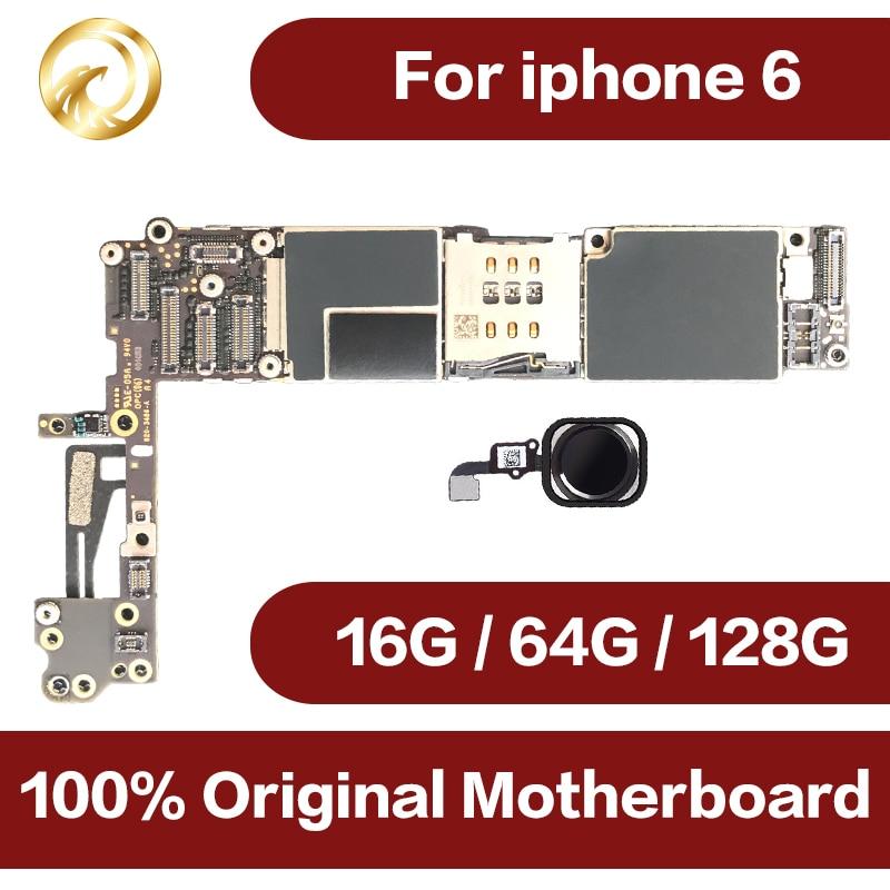 100% plein débloqué pour iphone 6 4.7 pouces Carte Mère avec Tactile ID, Origina pour iphone 6 Carte Mère avec IOS Système, livraison Gratuite