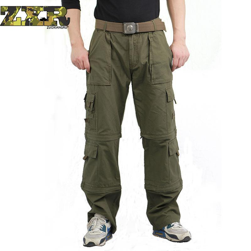 Men's Army Military Fans Trousers Bags Overalls Brand 101 Airborne Parachute Hiking Pants Removable Camouflage Tactical Pants airborne pollen allergy