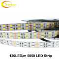 120 LED/m LED Strip 5050 DC12V Flexible LED Light Double Row 5050 LED Strip 5m/lot