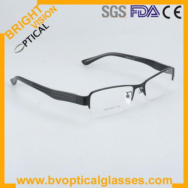 2299 preço Factrory metade rim eyewear vintage óculos para homens óculos frame ótico óculos de miopia prescrição