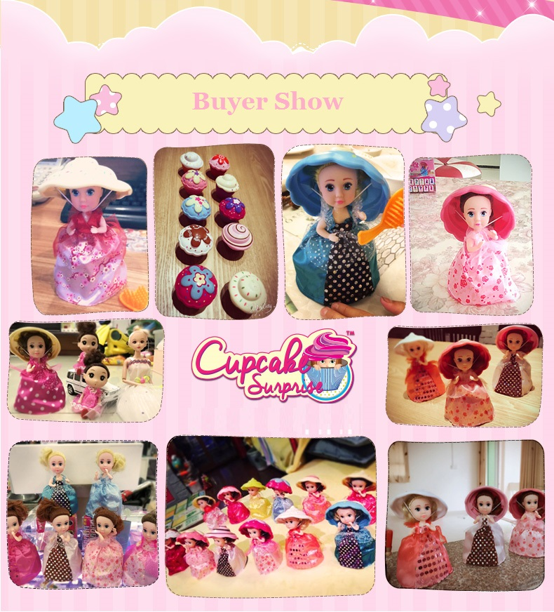 6 Inch Surprise Cupcake Doll Deformable 1pcs Dolls Girl Beautiful