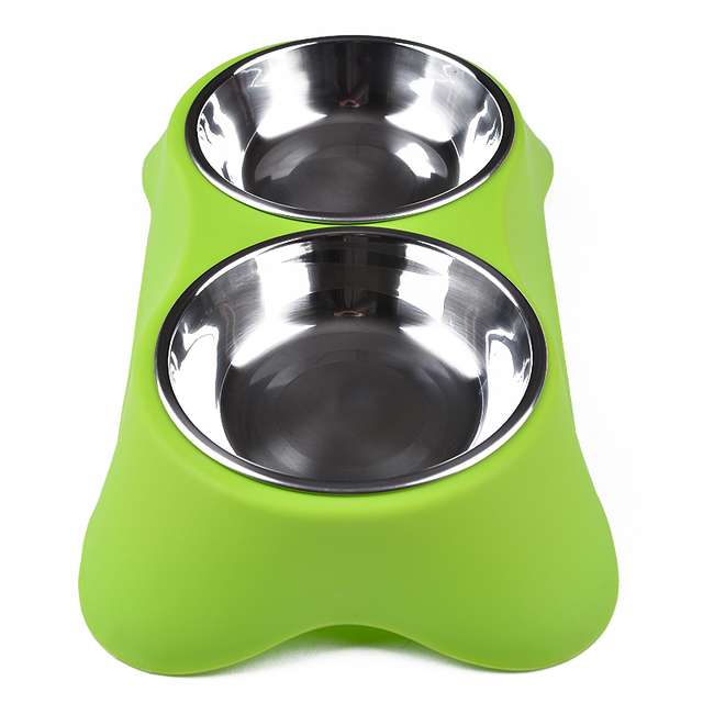 CAWAYI KENNEL Stainless Steel Double Pet Bowls for Dog Puppy Cats Food Water Feeder Pets Supplies Feeding Dishes Dogs Bowl D1202 4
