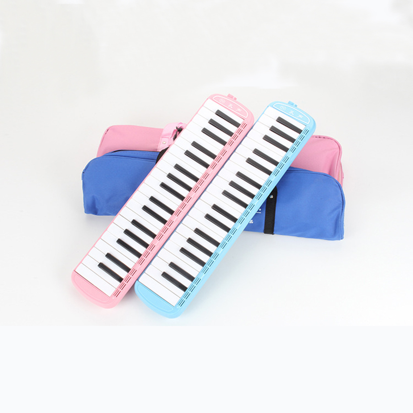 KONGSHENG Melodica 37 Keys Melodica Instrument Pink Blue Wind Musical Instruments Pianica Beginners Kids Gift Student Child zebra musical instruments keyboard instruments piano sw 37k 37 keys melodica mouth organ with handbag