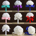 Wedding Bouquet Ivory New Bridesmaid Decoration Foamflowers Rose White Satin Romantic Cheap Price Bridal