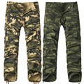 2017 new Men Camouflage Pants Fashion Multi Pockets Military Army Pants Joggers Camo Baggy Cargo Pants Men's Clothing Casual