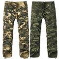 2017 nuevos Hombres Pantalones de Camuflaje de La Manera Multi Bolsillos Pantalones Joggers Militar Del Ejército Camo Pantalones Cargo Holgados de Los Hombres Ropa Casual