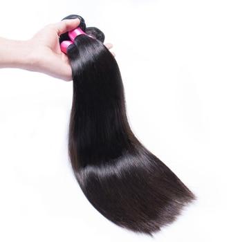 4 Bundles Brazilian Straight Hair Bundles 100% Remy Hair Weave Bundles 4 /Lot Hair Extension Natural Color 1