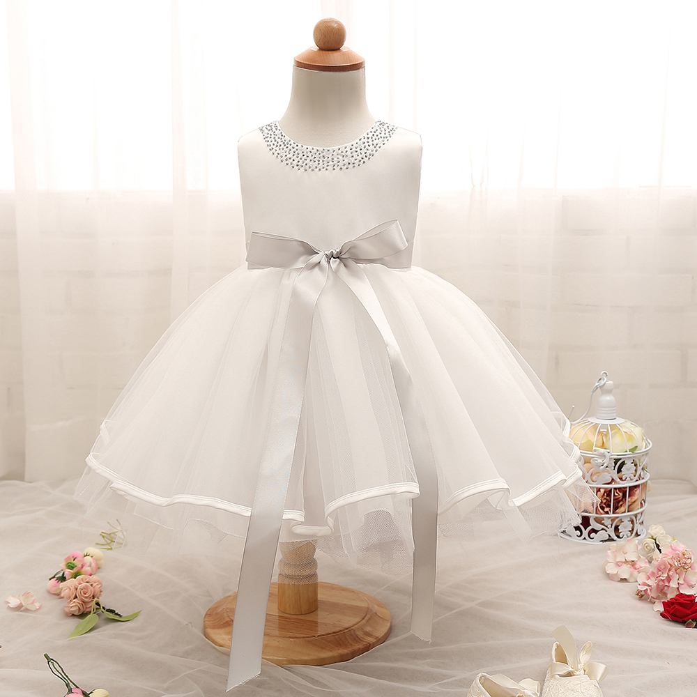 White Christening Baby Princess Newborn 1 2 Year Birthday Infant Dress Party Girl Clothes Vestido Bebe For Kids Girls Dresses