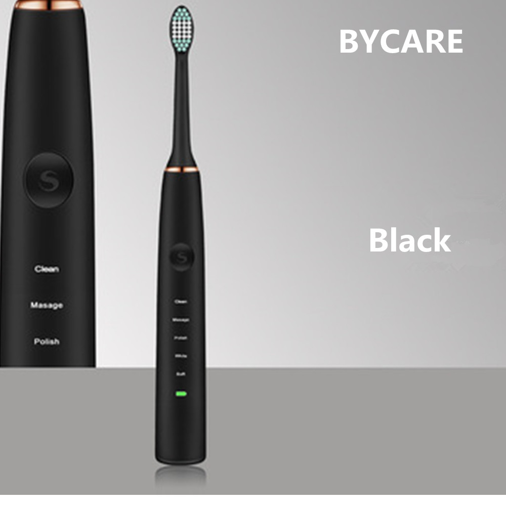 BYCARE Wireless rechargeable battery IPX7 Waterproof Inductive charger LED indicat Ultrasonic Sonic Electric Toothbrush vjoycar tk20sse 20000mah rechargeable removable battery