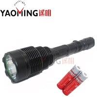 18000LM High Power Lantern Rechargeable Led Flashlight Powerful Lamps Self Defense Linternas Police Lanterna + 2x18650 Battery