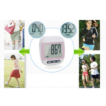 New Multi-Function Electronic Waterproof Pedometer Calories Counter Digital Running Step Counter With Large LCD Display Pink