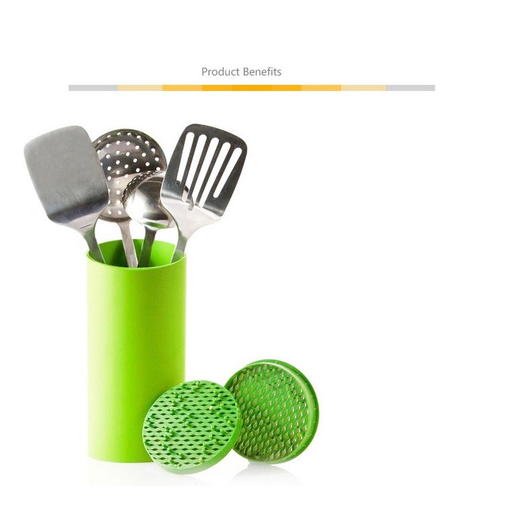 Tool Holder Multifunctional Plastic Tool Holder Knife Block Knife Stand Sook Tops Tube Shelf Chromophous Kitchen Creative Holder