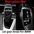Реальные углеродного волокна Автомобилей рычага переключения передач украшения для BMW E60 E90 F10 F30 F20 X1 3 GT, 2015-2016 Х 5 6 серии Может только соответствовать Левый диск
