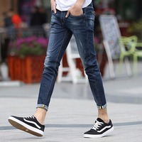 2017 Brand Skinny Jeans Men Casual Cotton Designer Stretch Slim Fit Hip Hop Denim Trousers Ankle
