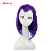 L-email wig Brand New 35cm 13.78inch Purple Cosplay Wigs  Short Heat Resistant Synthetic Hair Perucas Cosplay Wig l email wig new fgo game character cosplay wigs 10 color heat resistant synthetic hair perucas men women cosplay wig