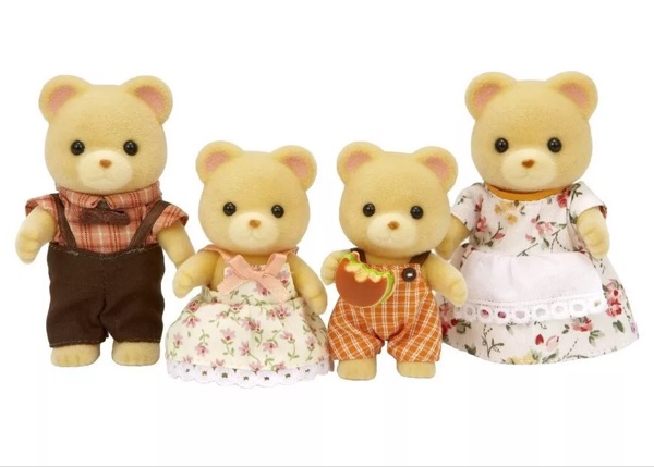 Bear family without original box Sylvanian Family mini size action Figures Anime Cartoon figures Toys Child Toys gift 6pcs set disney toys for kids birthday xmas gift cartoon action figures frozen anime fashion figures juguetes anime models
