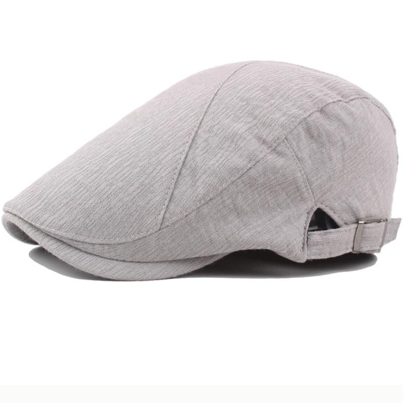 Vintage Cotton Linen Flat Cap 8