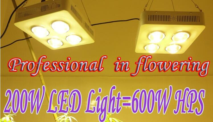 200W COB LED grow light =600W HPS Professional in flowering More condenser More light More energy-efficient